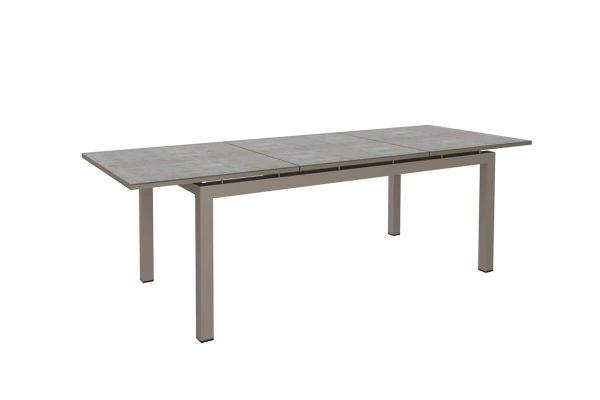 Vienna Lungo rozkładany duży stół ogrodowy aluminium 200-260 cm szarobeżowy Twoja Siesta