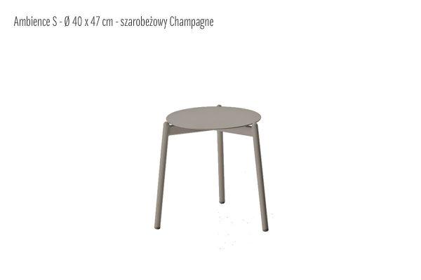 Ambience ogrodowy stolik kawowy aluminium szarobeżowy mały S 40 cm | Twoja Siesta