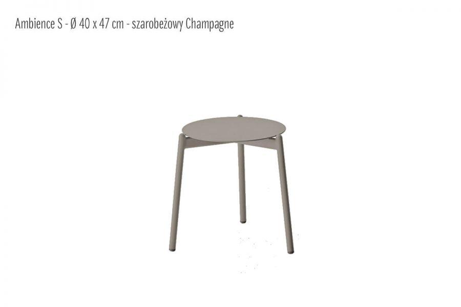Ambience ogrodowy stolik kawowy aluminium szarobeżowy mały S 40 cm   Twoja Siesta