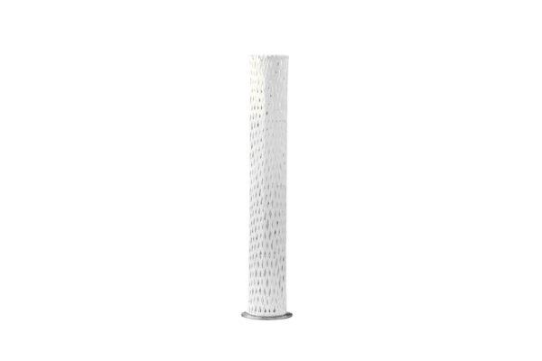 Colona technorattanowa wysoka lampa ogrodowa ledowa 155 cm biały technorattan Twoja Siesta luksusowe meble ogrodowe