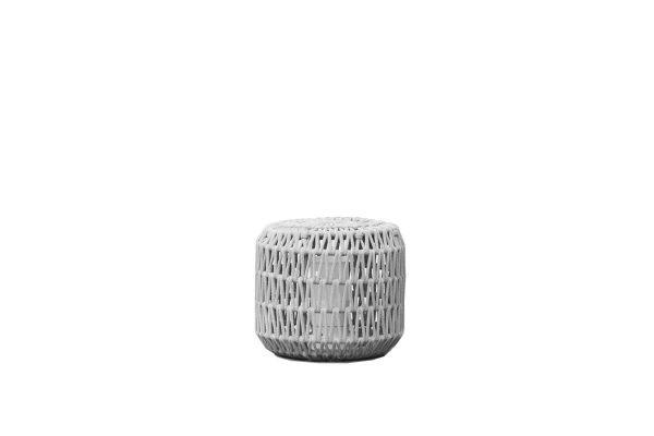 Durum lampa ogrodowa LED z grubej liny jasnoszara mała S Twoja Siesta meble ogrodowe