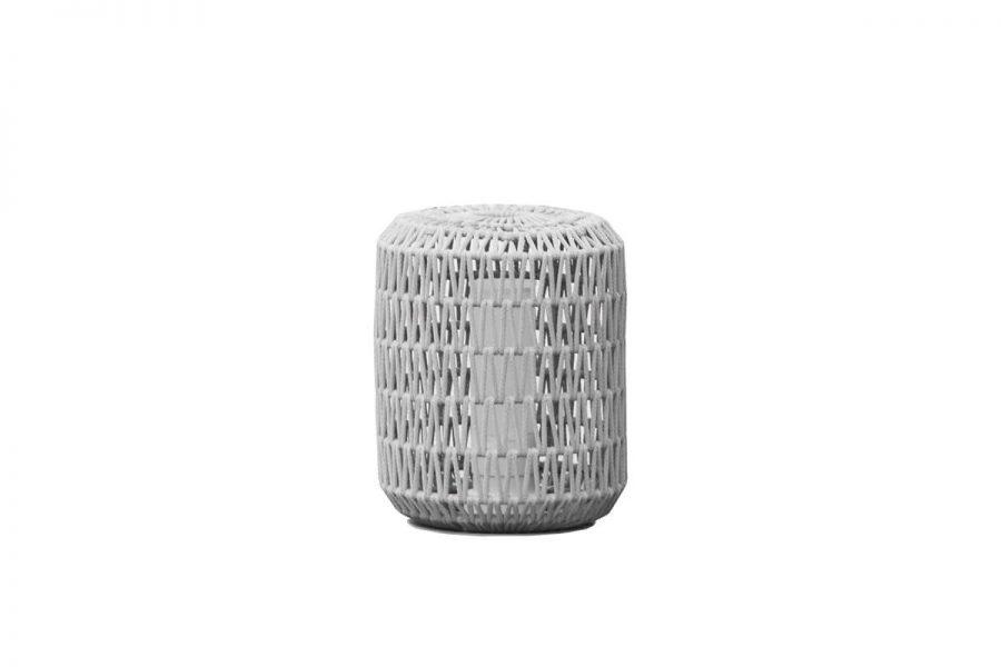 Durum lampa ogrodowa LED z grubej liny jasnoszara średnia M Twoja Siesta meble ogrodowe