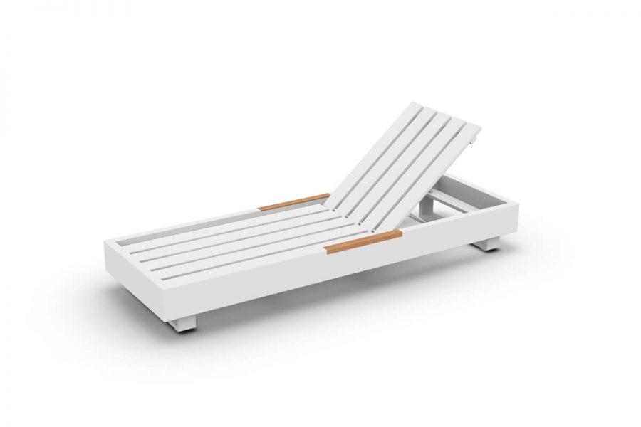 Bari luksusowy leżak ogrodowy aluminium | Jati & Kebon