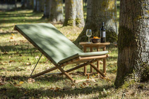 Borneo wygodny fotel leżak ogrodowy z drewna teakowego | Jati & Kebon