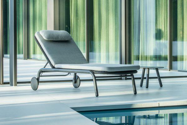 Durham nowoczesny leżak do ogrodu luksusowy leżak ogrodowy | Jati & Kebon
