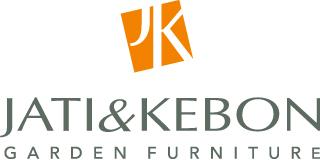 Durham nowoczesny leżak do ogrodu 2 kolory logo Jati & Kebon