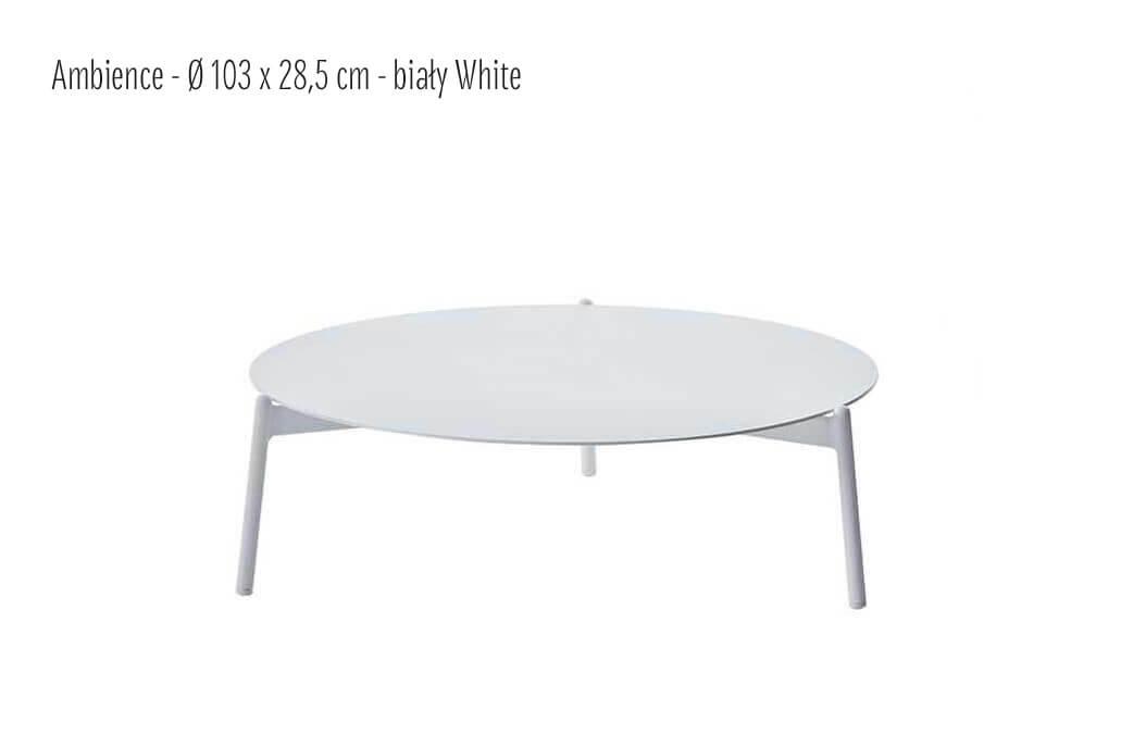Ambience ogrodowy stolik kawowy z aluminium biały duży 103 cm  Twoja Siesta