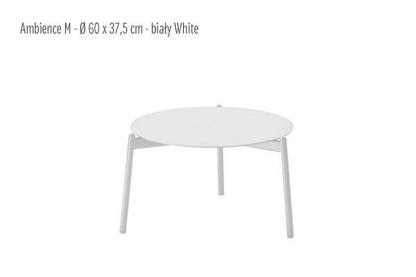 Ambience ogrodowy stolik kawowy z aluminium biały średni 60 cm| Twoja Siesta