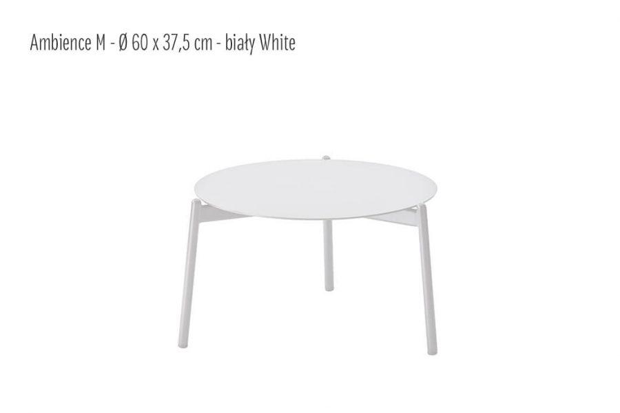 Ambience ogrodowy stolik kawowy z aluminium biały średni 60 cm  Twoja Siesta