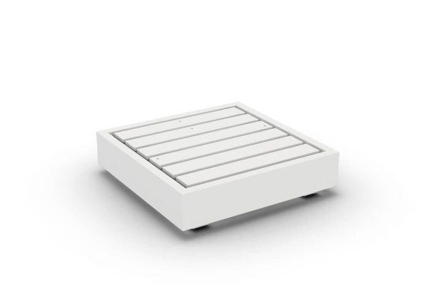 Bari moduł podstawa 1 osobowa aluminium biały Jati & Kebon