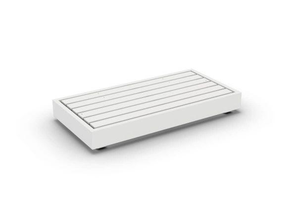 Bari moduł podstawa 2 osobowa aluminium biała sofa podwójna | Jati & Kebon