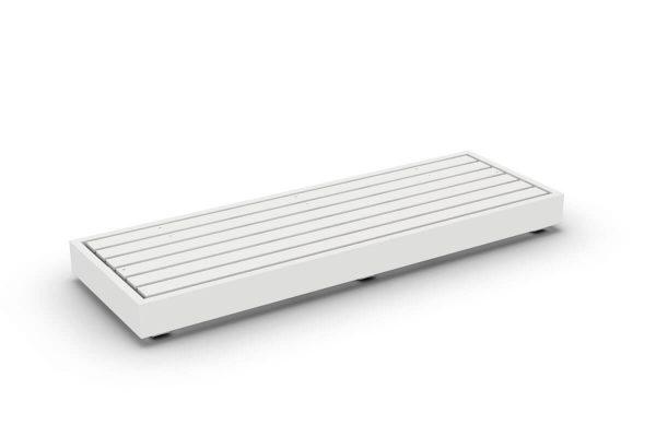 Bari moduł podstawa 3 osobowa aluminium biały Jati & Kebon