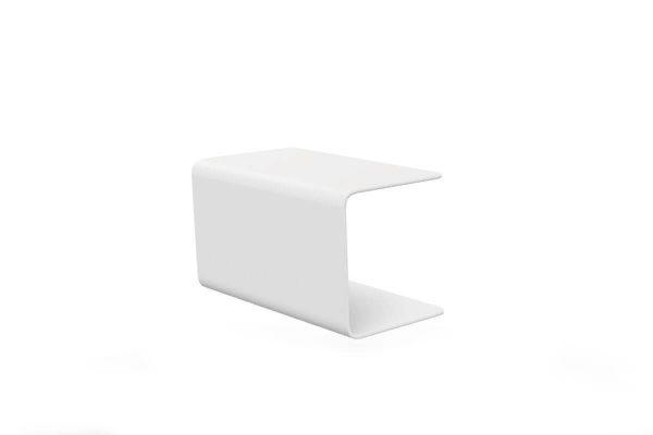 Bari podłokietnik z aluminium do modułu sofu ogrodowej kolor biały Jati & Kebon