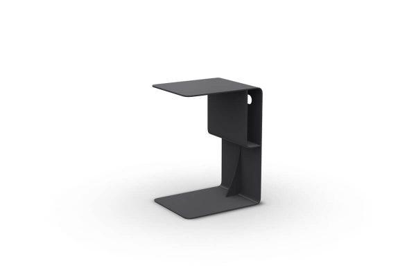 Bari podręczny stolik ogrodowy aluminiowy antracytowy Jati & Kebon