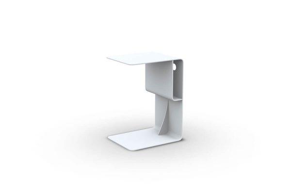 Bari podręczny stolik ogrodowy aluminiowy biały Jati & Kebon