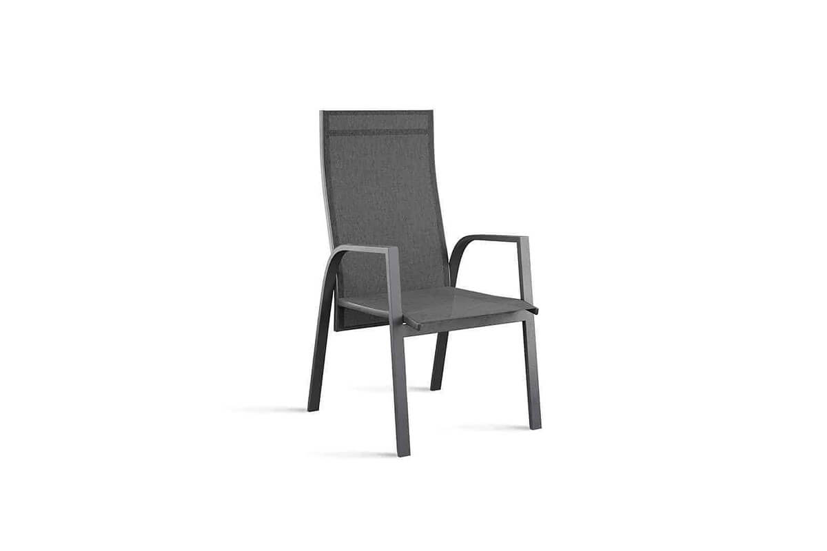 Alicante nowoczesne krzesło ogrodowe z regulacją oparcia kolor antracytowy Zumm