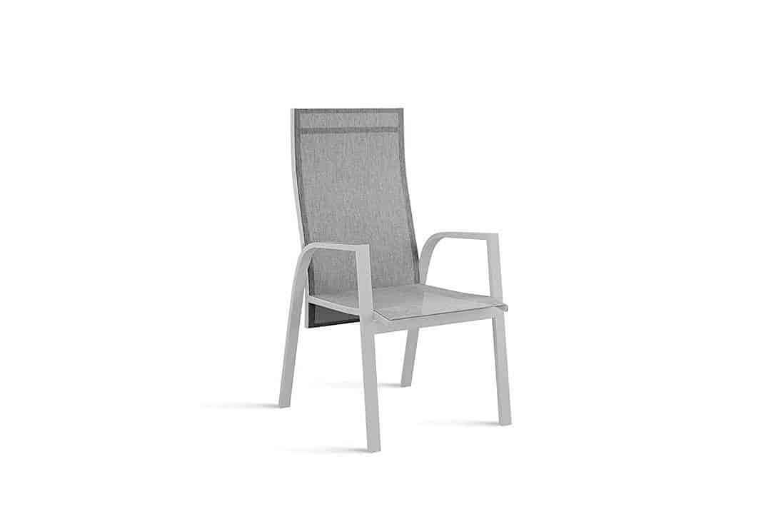Alicante nowoczesne krzesło ogrodowe z regulacją oparcia kolor szary Zumm