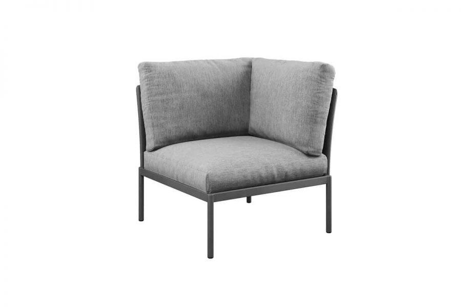 Arona 1 funkcjonalny zestaw mebli ogrodowych fotel ogrodowy narożny kolor antracytowy Zumm