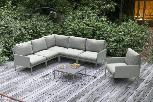 Arona 1 funkcjonalny zestaw mebli ogrodowych fotele ogrodowe kolor szary Zumm