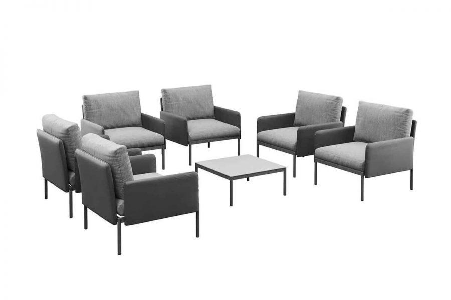 Arona 1 funkcjonalny zestaw mebli ogrodowych fotele ogrodowe kolor antracytowy Zumm