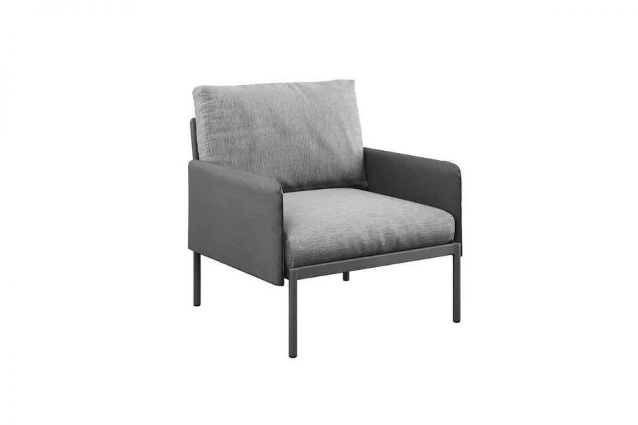 Arona wygodny fotel ogrodowy 2 kolory aluminium antracytowe szare poduszki Zumm