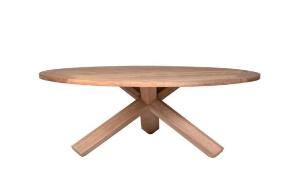 Bordeaux okrągły stół teakowy stół ogrodowy 170 cm z drewna teakowego Vimine