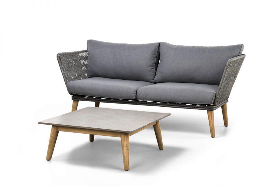 Corfu 3 elegancki zestaw wypoczynkowy do ogrodu sofa ogrodowa podwójna stolik kawowy Corfu SUNS