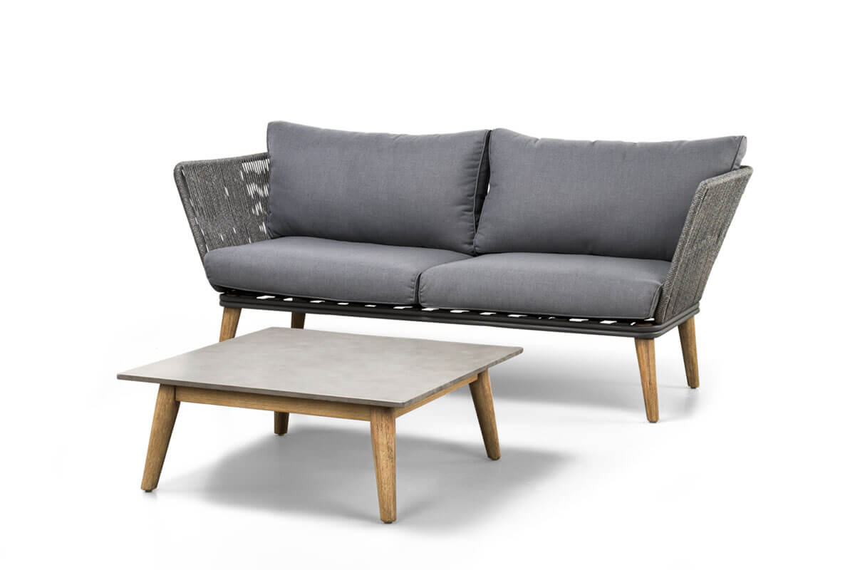 Corfu nowoczesny narożnik ogrodowy sofa ogrodowa 2 osobowa lewa