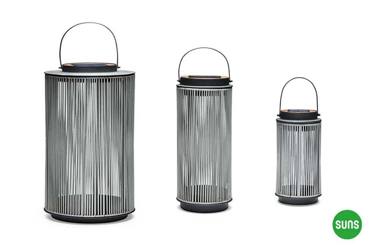 Fay nowoczesne lampy solarne ogrodowe aluminium lina - antracytowa podstawa XL M S SUNS