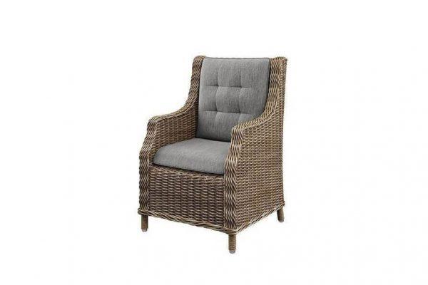 Siena wygodny fotel ogrodowy technorattanowy piaskowy fotel tarasowy Oltre