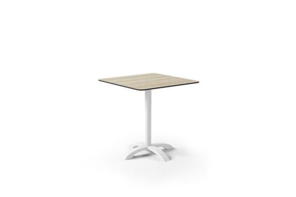 Vic kwadratowy stół ogrodowy aluminium kolor biały blat laminat HPL Zumm