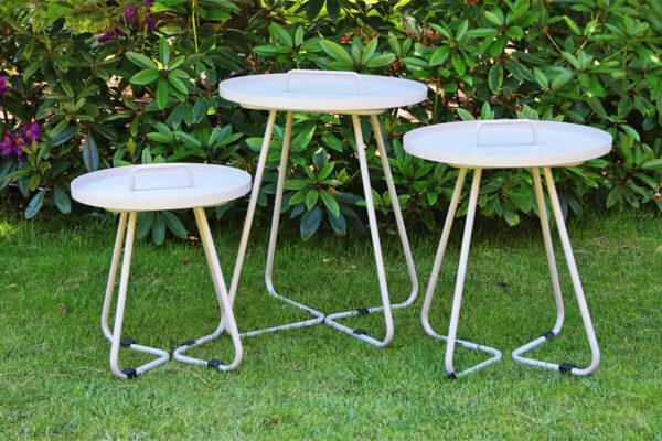 Cala szary stolik ogrodowy z aluminium jasnoszary Twojasiesta luksusowe meble ogrodowe aluminium