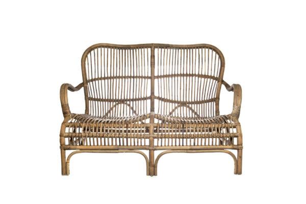 Cannes sofa rattanowa ogrodowa naturalny rattan Vimine