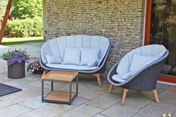 Cologne Spring meble ogrodowe wypoczynkowe sofa ogrodowa fotel stolik lina drewno teak Twoja Siesta