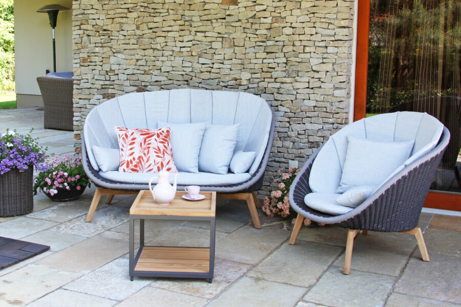 Cologne Spring meble ogrodowe wypoczynkowe sofa ogrodowa fotel stolik teak Twoja Siesta