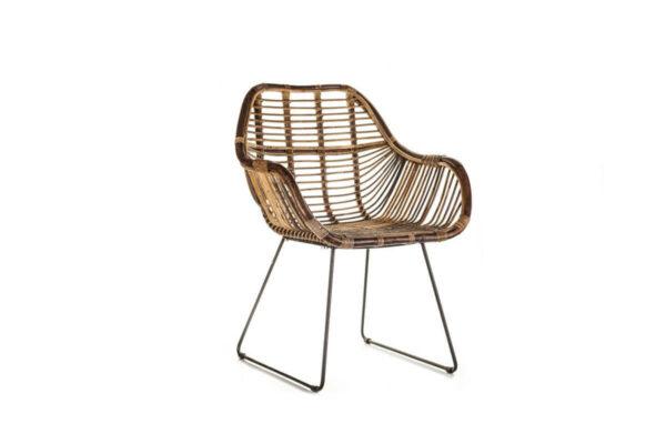 Laval krzesło rattanowe ogrodowe naturalny rattan Vimine