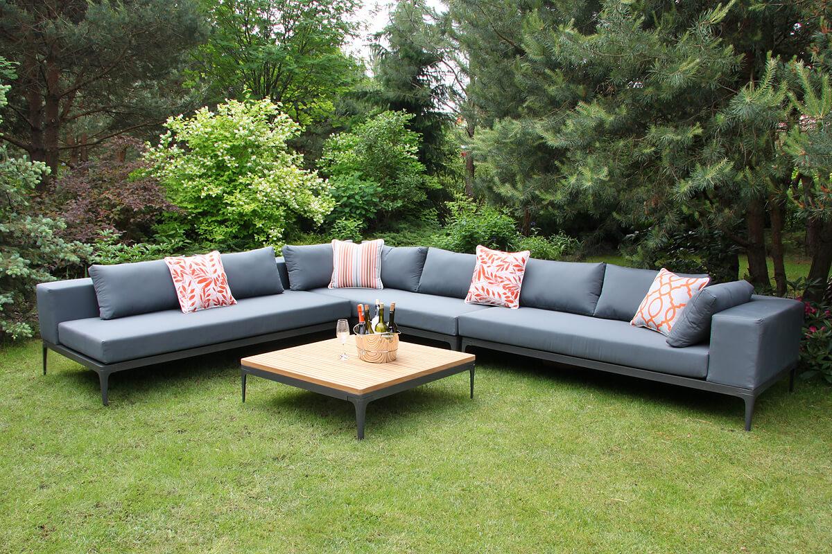Minori modułowe meble ogrodowe narożnik ogrodowy kanapy ogrodowe siedziska Twojasiesta nowoczesne meble ogrodowe