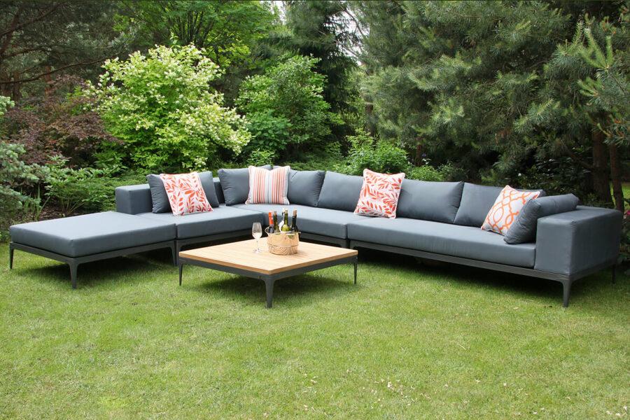 Minori modułowe meble ogrodowe narożnik ogrodowy sofy ogrodowe siedziska Twojasiesta eleganckie meble ogrodowe