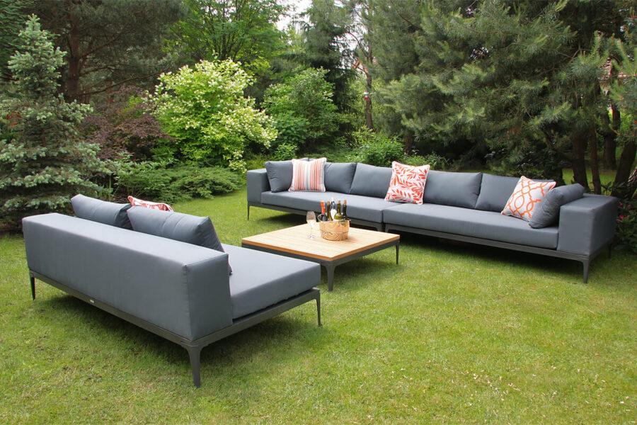 Minori modułowe meble ogrodowe sofy ogrodowe modułowe siedziska Twojasiesta eleganckie meble ogrodowe