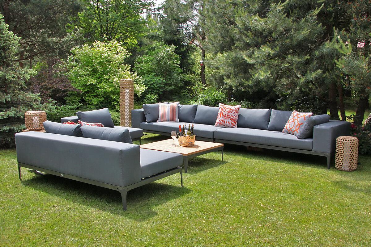 Minori modułowe meble ogrodowe sofy tarasowe siedziska Twojasiesta nowoczesne meble ogrodowe