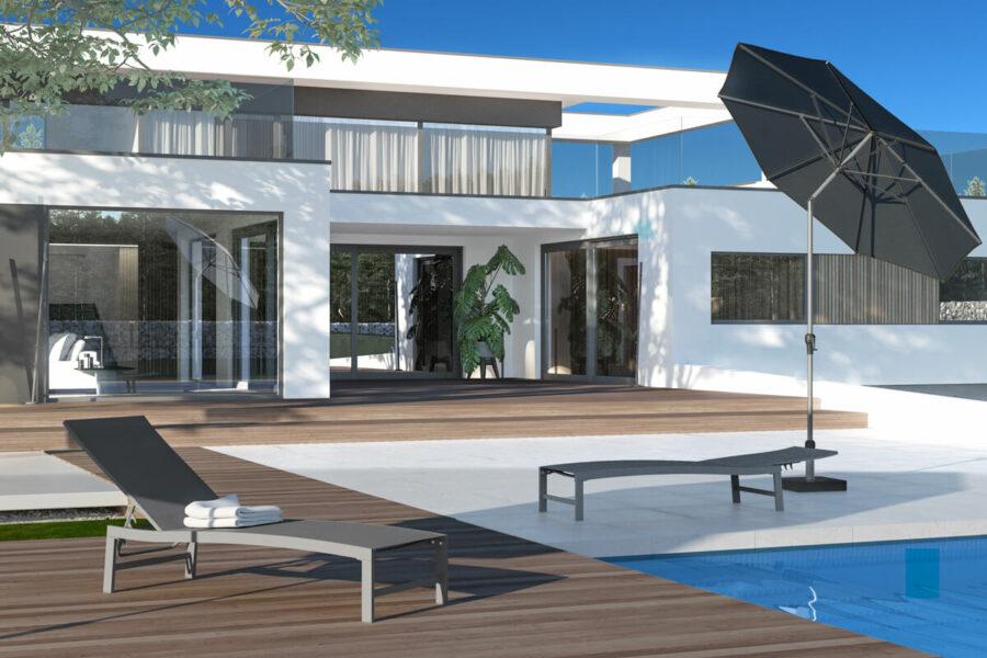 Altea leżak ogrodowy aluminium szary Zumm eleganckie meble ogrodowe