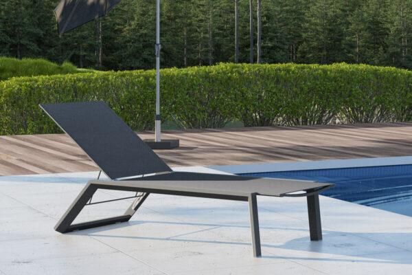 Murcia leżak tarasowy aluminium antracytowy leżak do ogrodu Zumm Twojasiesta luksusowe meble ogrodowe