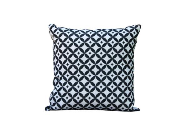 Passo czarno-biała poduszka ogrodowa ozdobna wzór mozaika Twoja Siesta luksusowe meble ogrodowe