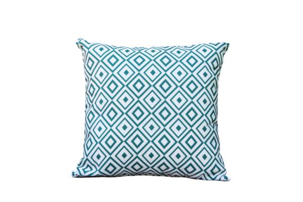 Passo grynszpan poduszka ogrodowa ozdobna wzór mozaika kwadrat Twoja Siesta luksusowe meble ogrodowe