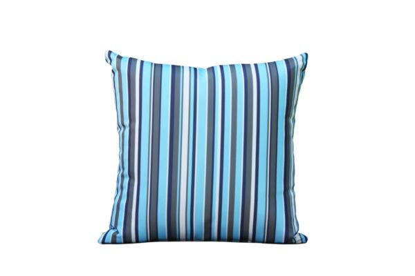 Passo lazurowa poduszka ogrodowa ozdobna wzór linie Twoja Siesta luksusowe meble akcesoria ogrodowe