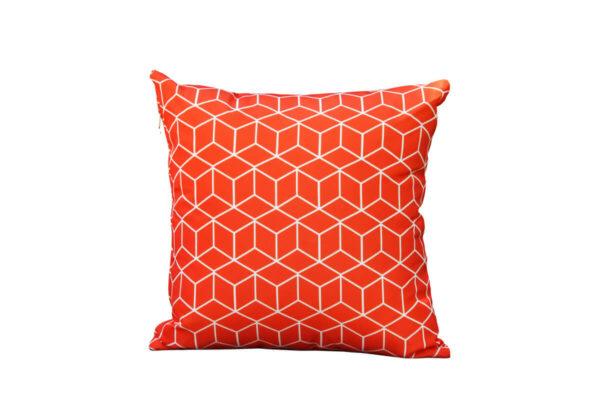 Passo pomarańcz sycylijska poduszka ogrodowa ozdobna wzór mozaika sześciany Twoja Siesta dekoracyjne poduszki ogrodowe