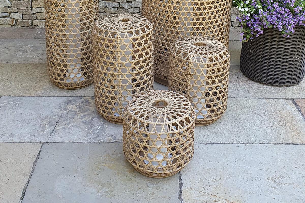 Spelt lampa ogrodowa LED lampion technorattan orzechowy lampy mała średnia duża Twojasiesta luksusowe meble ogrodowe